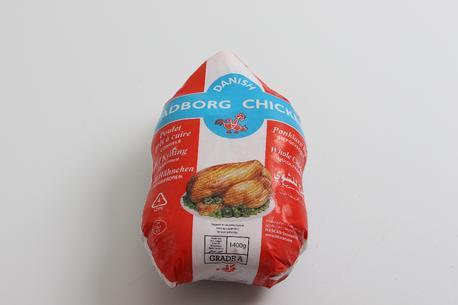 Grillkylling, 1.400 gram, rå  DK