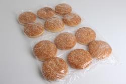 Sesam hamburgerboller 125 mm, 30 stk.