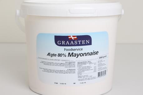 Mayonnaise, 80%, spand, Graasten
