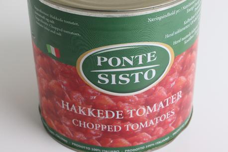 Tomat, hakkede