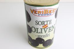 Oliven, sorte, stor dåse