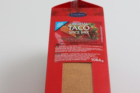 Taco, spicemix, Santa Maria