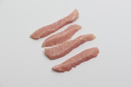 Skinkekød i strimler
