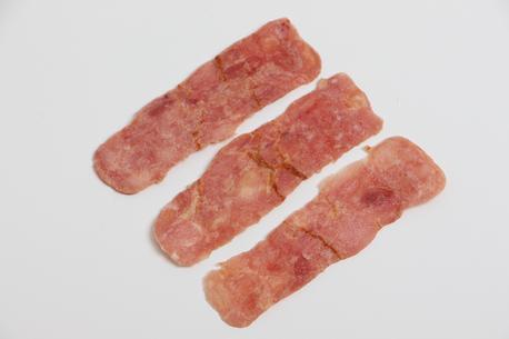 Bacon, kalkun stegt