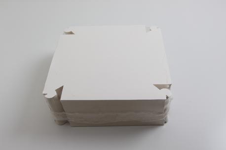 Smørrebrødsæske, hvid, 445x320x65 100 st