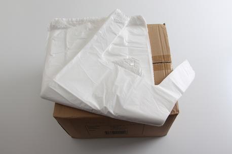 Bærepose, hvid t., 270*90*580-1.000 stk.