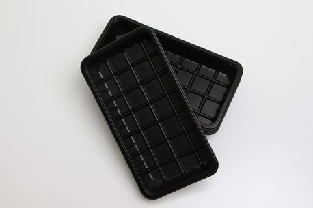 Plastbakker, sorte, 81-43S