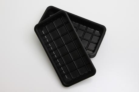 Plastbakker, sorte, 2.000 g., 2270-51S
