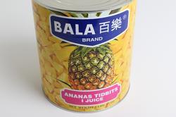 Ananas i tern i juice, stor dåse